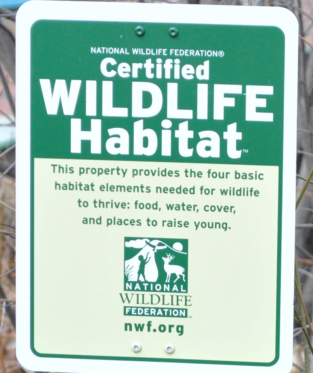 certified wildlife habitat